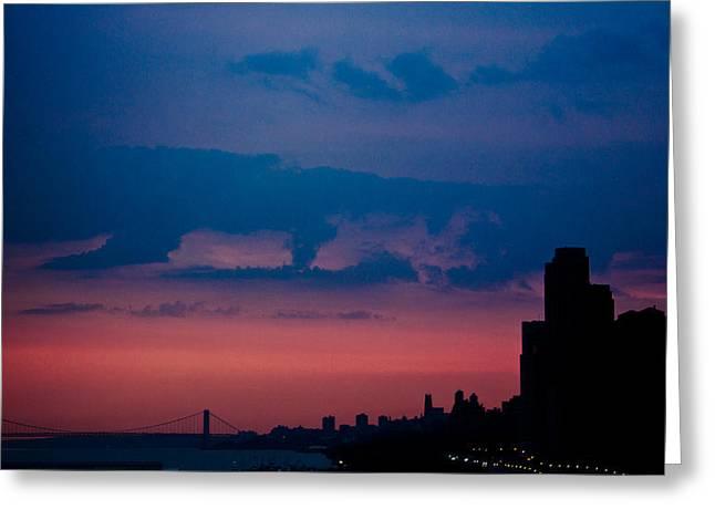 Greeting Card featuring the photograph Brooklyn Bridge Sunrise by Sara Frank