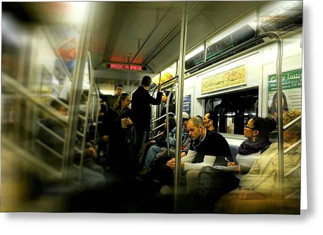 Subway To Brooklyn Greeting Card