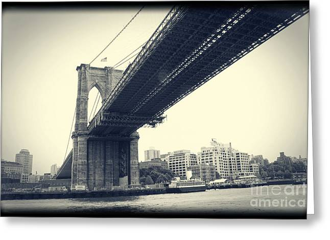 Greeting Card featuring the photograph Brooklyn Bridge1 by Paul Cammarata