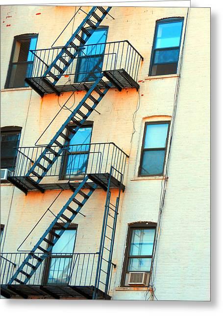 Brooklyn Fire Escape Greeting Card by Jon Woodhams
