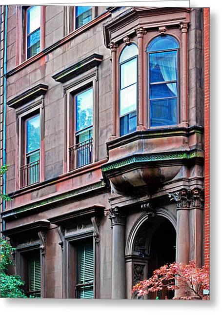 Brooklyn Heights - Nyc - Classic Building And Bike Greeting Card