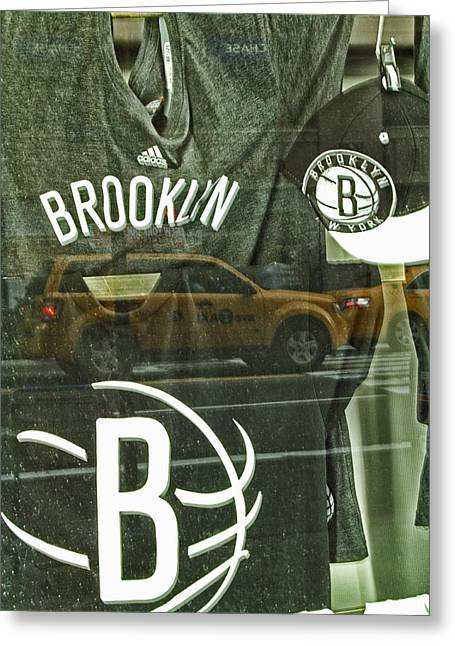 Brooklyn Nets Greeting Card by Karol Livote