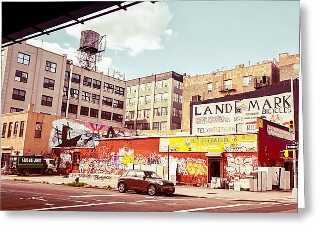 Brooklyn - New York City - Williamsburg Greeting Card by Vivienne Gucwa