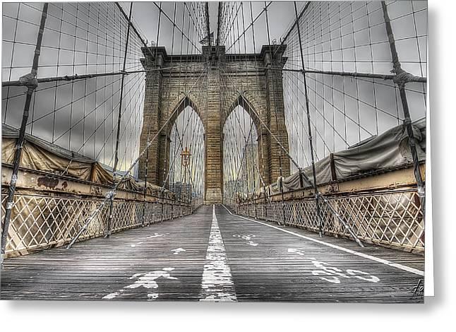 Brooklynbridge Greeting Card by Alessandro Ciabini