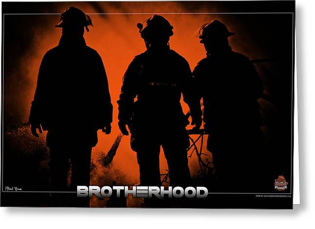 Brotherhood 1 Greeting Card by Mitchell Brown