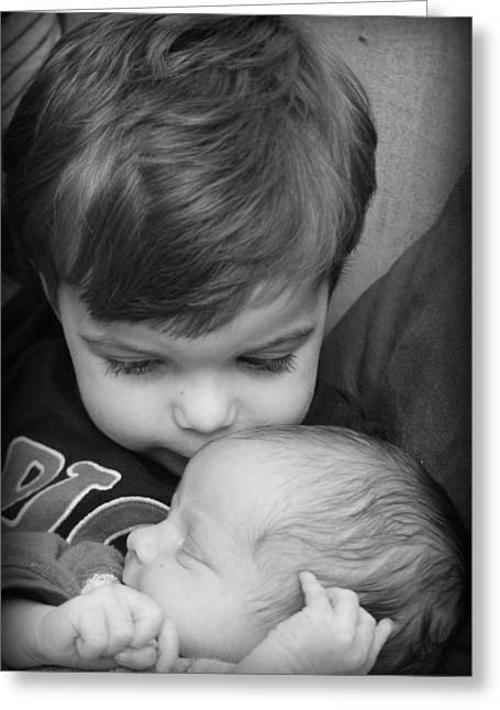 Brotherly Love Greeting Card by Kelly Hazel