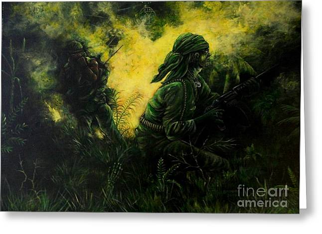 Brothers In Arms Greeting Card by Richard Brooks