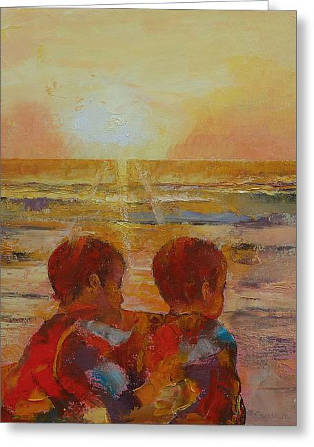 Brothers Greeting Card by Michael Creese