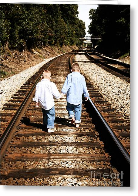 Brothers Greeting Card by Suzi Nelson