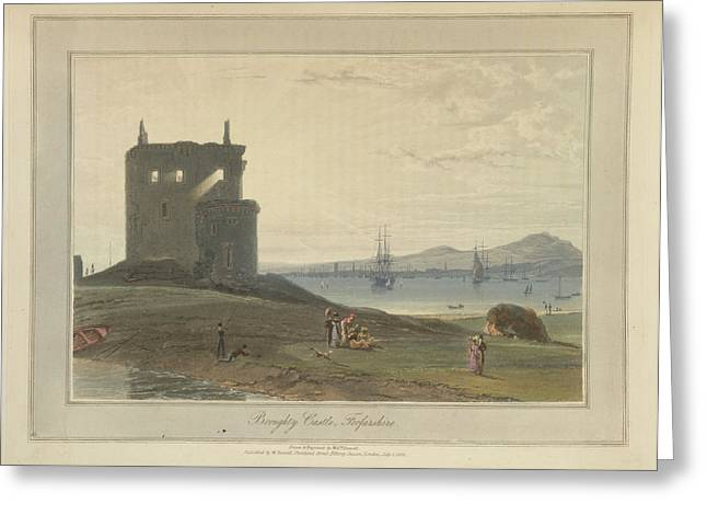 Broughty Castle In Forfarshire Greeting Card