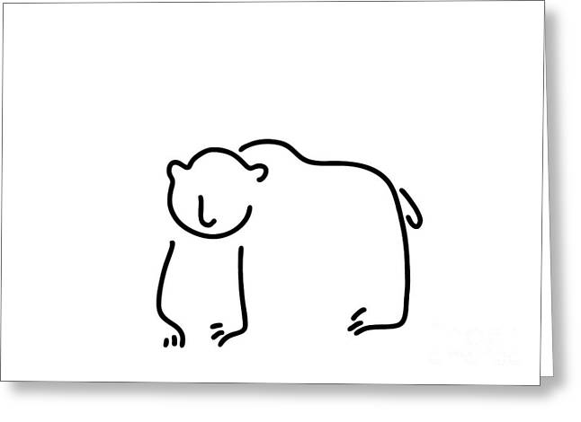 Brown Bear Black Bear Greeting Card