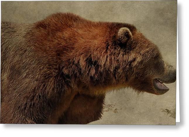 Brown Bear Hunting Greeting Card