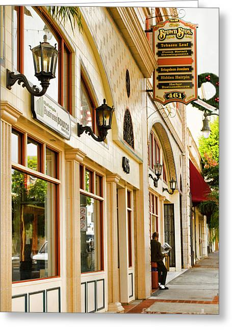 Brown Bros Building Greeting Card by Donna Greene