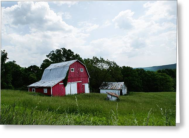 Brown County Barn Greeting Card by Off The Beaten Path Photography - Andrew Alexander
