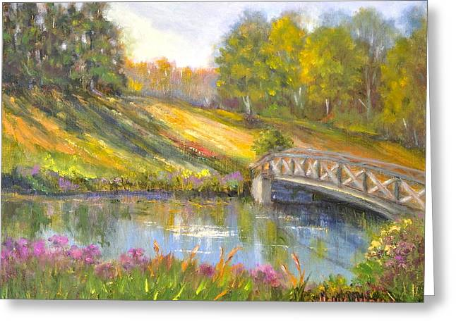Brown County Hills Greeting Card by Holly LaDue Ulrich