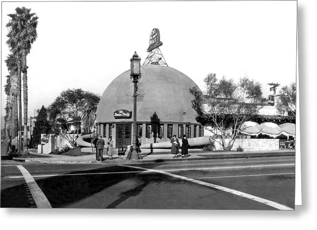 Brown Derby Restaurant Greeting Card by Underwood Archives