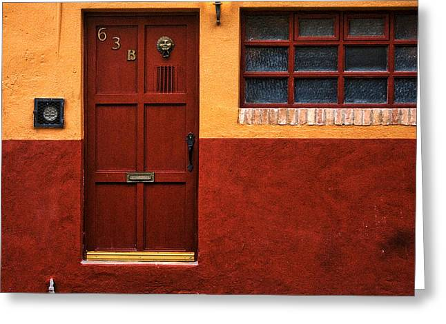 Brown Door In Mexico Greeting Card