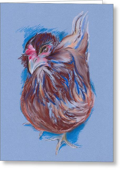 Brown Easter Egger Hen Greeting Card by MM Anderson
