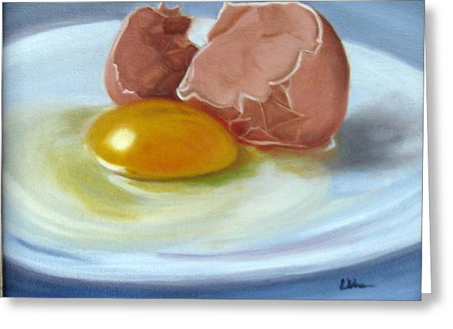 Greeting Card featuring the painting Brown Egg Study by LaVonne Hand