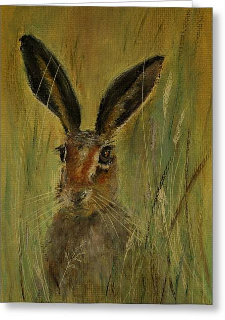 Brown Hare Miniature Greeting Card