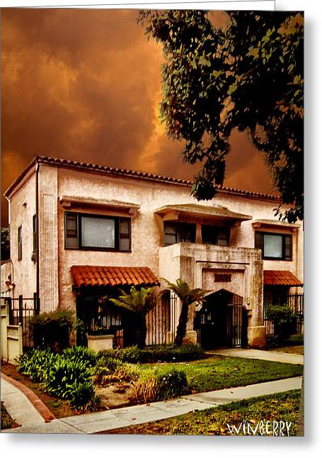 Brown House 2 Greeting Card by Bob Winberry