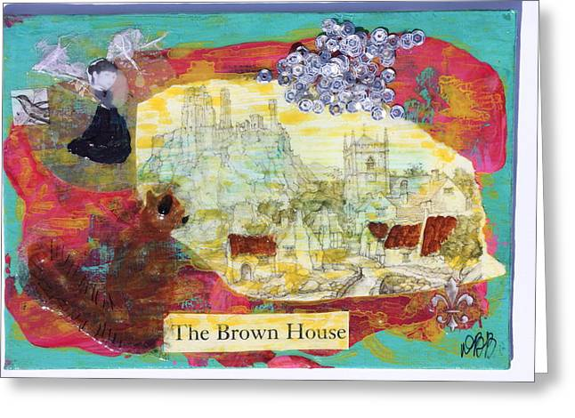 Brown House No 1 Greeting Card