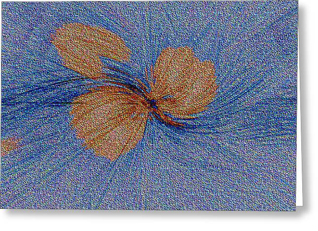 Brown Leaf Afloat Greeting Card by Bruce Iorio