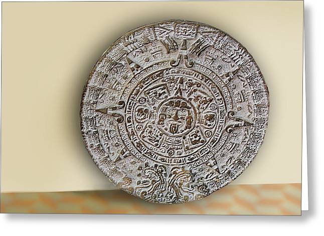 Brown Mexican Media Disk Greeting Card by Linda Phelps