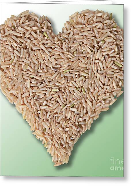 Brown Rice, Heart Healthy Greeting Card by Gwen Shockey