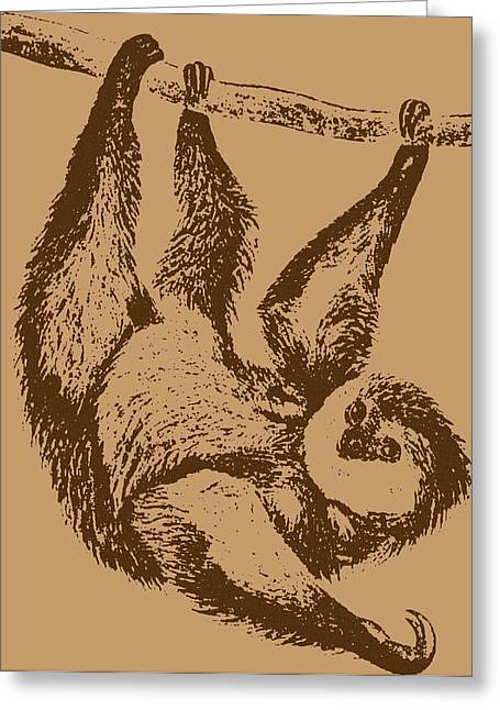 Brown Sloth Greeting Card by