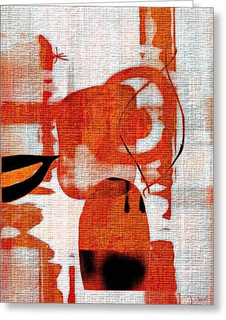 Brown Weave Abstract Greeting Card by Allen Beilschmidt