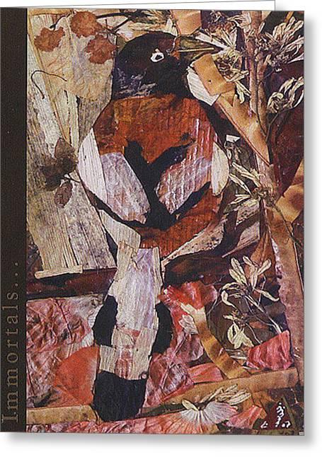 Brown- White Bird Greeting Card