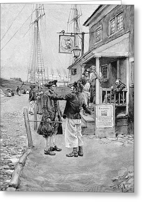 Brownejohns Wharf, New York, Illustration From Old New York Taverns By John Austin Stevens, Pub Greeting Card