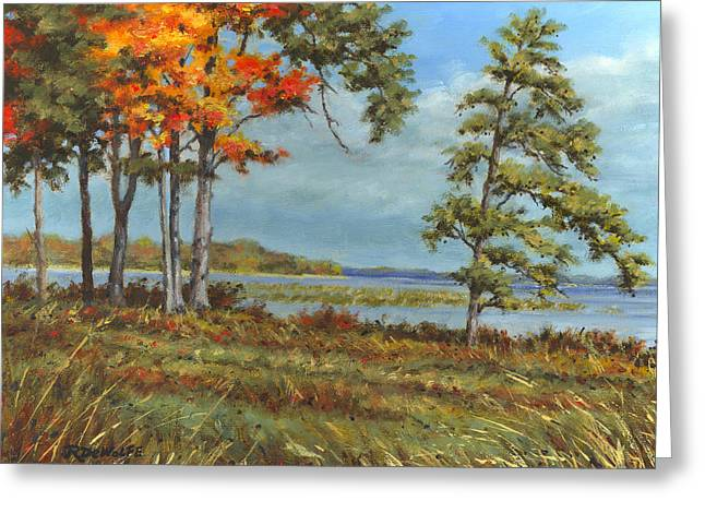 Browns Bay Greeting Card by Richard De Wolfe