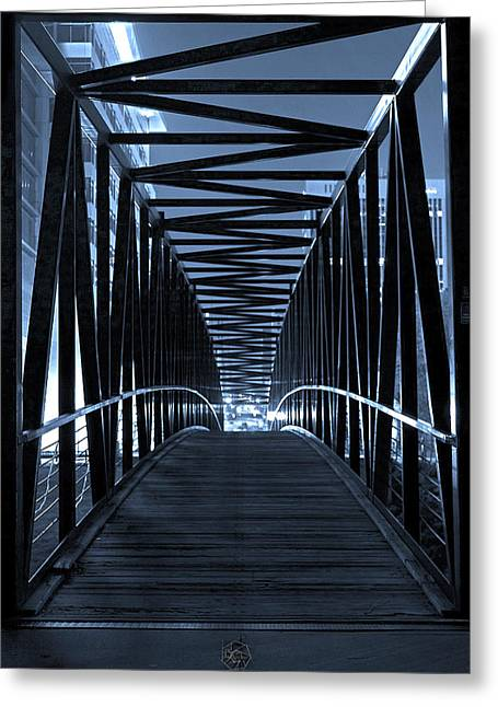 Brown's Island Bridge Greeting Card by Brian Archer