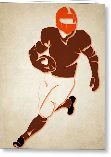 Browns Shadow Player Greeting Card by Joe Hamilton
