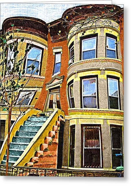 Brownstone Greeting Card