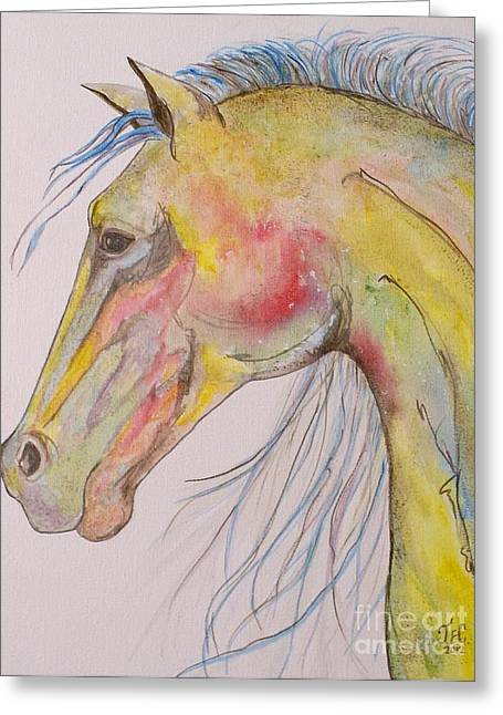 Bruce Greeting Card by Jane Chesnut