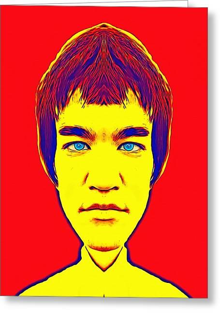 Bruce Lee Alias Greeting Card by Art Cinema Gallery