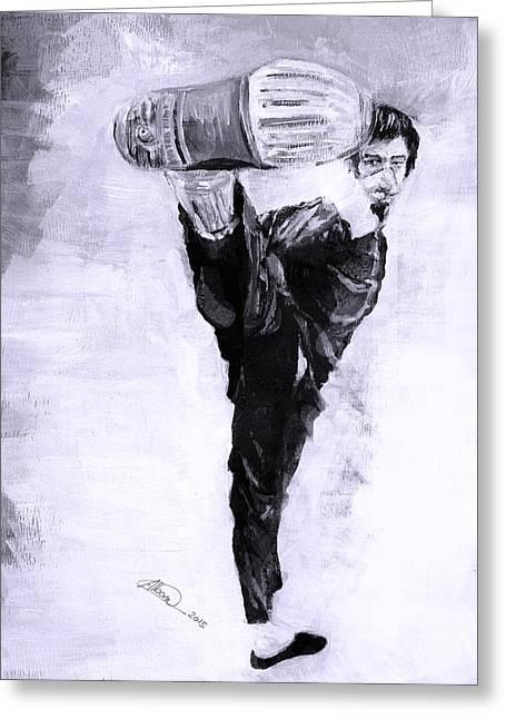 Bruce Lee N2 Greeting Card by Alban Dizdari