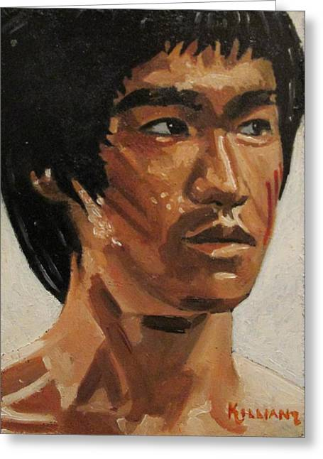 Bruce Lee Greeting Card by Patrick Killian