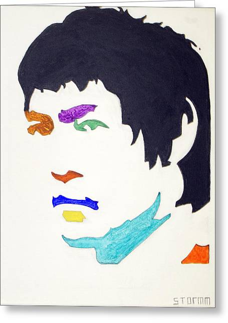 Greeting Card featuring the  Bruce Lee by Stormm Bradshaw