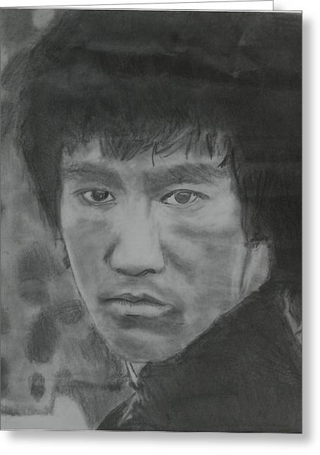 Bruce Lee Greeting Card by Terence Leano