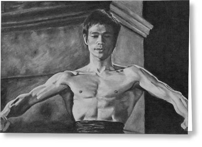 Bruce Lee - Way Of The Dragon Greeting Card by Mike OConnell