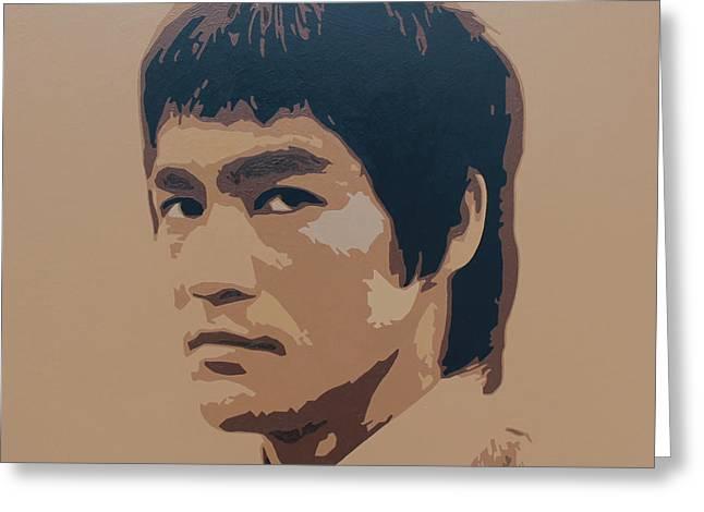 Bruce Lee Greeting Card by Zelko Radic Bfvrp