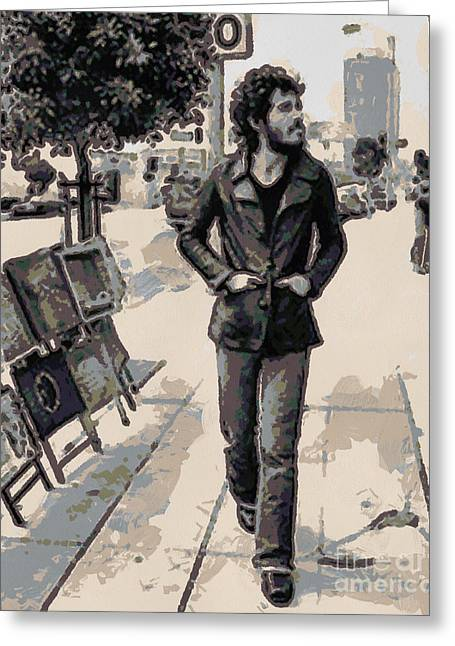 Bruce Springsteen Greeting Card by Paulette B Wright