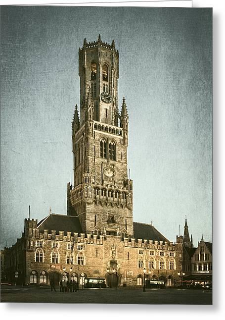Bruges Belfort Greeting Card by Joan Carroll