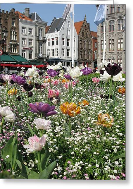 Greeting Card featuring the photograph Brugge In Spring by Ausra Huntington nee Paulauskaite