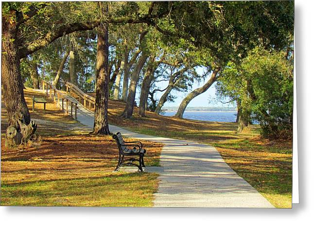 Greeting Card featuring the photograph Brunswick Town by Cynthia Guinn