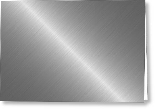 Brushed Steel Metal Texture 1 Greeting Card by REDlightIMAGE